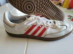 Rare  Adidas Originals Men's  Iconic SAMBA OG SNEAKERS  US:11 Red Stripes