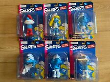 The Smurfs Large Figures Collection Full Set Moc Brand New! Smurfette Brainy!