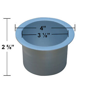 """Universal Replacement Metal Cup Holder, Silver, 3 1/8"""" Diameter"""