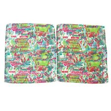 Lilly Pulitzer Set of 2 Washcloths Bright Multicolor Bathroom Preppy Bath Decor