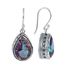Multicolour Rainbow Silver Tone Dangle Drop Hook Pierced Earrings Women's Gift S