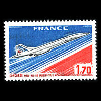 "France 1976 - Aircraft ""Concorde"" Aviation - Sc C48 MNH"