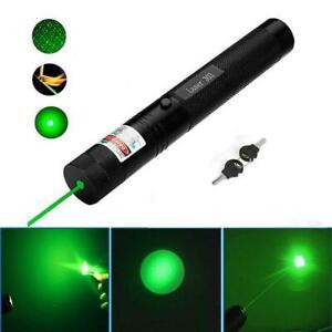 Green Laser Pointer 532nm 1MW Lazer Pen Adjustable Focus Visible Beam Lights