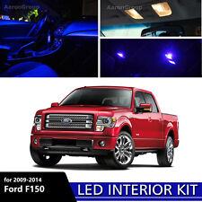 9PCS Blue Interior LED Light 09-14 Ford F150 F-150 White for License Plate