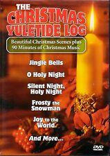 THE CHRISTMAS YULETIDE LOG: VIRTUAL HOLIDAY FIREPLACE & WINTER SCENE DVD w/MUSIC