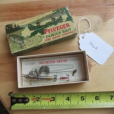 New listing Vintage Pflueger Breakless Devon fishing lure in box (lot#9468)