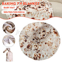 Flannel Blanket Baby Adult Flour Tortilla Blanket Sleeping Wrap Hat Se