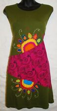 New Fair Trade Dress 10 12 Ethnic Boho Ethical Nepal Cotton Flowers Summer Beach