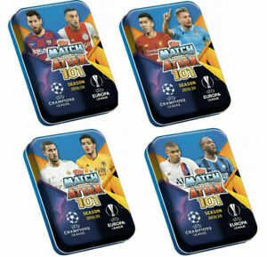 2019 2020 Match Attax 101 UEFA Soccer Trading Cards Mini Collector Tin 45 Cards
