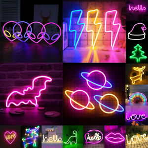 Neon Sign Light LED Wall Lights for Bedroom Home Bar Party Art Decoration Lamp