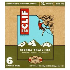 NEW SEALED CLIF ENERGY BAR SIERRA TRAIL MIX 14.40 OZ 10G PROTEIN NON-GMO