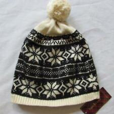 acd06da95c2 Ralph Lauren Girls 4-6x Cream Black Fair Isle Wool Angora Blend Pom Pom Hat