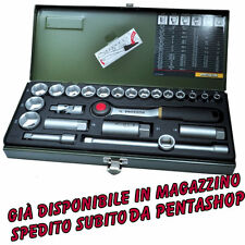 "PROXXON 23110 SET leve a cricco riquadro 10mm (3/8"") 24 Pezzi + Chiavi candele"