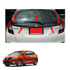Trim Tailgate Rear Door Accent Carbon Black Cover For Honda Jazz Fit 14 2015 17