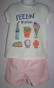 NEW GYMBOREE SIZE 4 8 10 12 14 SHORTS SWEET & SALTY TEE TOP EVERYDAY PLAYWEAR