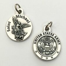 """Saint St Michael Archangel 3/4"""" Protection Medal Pendant US United States Army"""