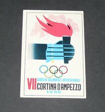 277 1956 CORTINA D'AMPEZZO PANINI OLYMPIA 1896-1972 JEUX OLYMPIQUES OLYMPIC