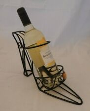 Wine bottle holder High heeled shoe black metal freestanding Display Decorative