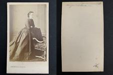 Levitsky, Paris, Eugénie de Montijo, impératrice Vintage albumen print, CDV. T