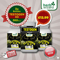 TESTOGEN ANABOLIC -STRONG LEGAL TESTOSTERONE MUSCLE BOOSTER TRIPPLE PACK BOOST