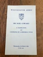 westminster abbey - sir noel coward ( a celebration & memorial stone )