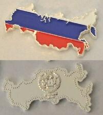 Unusual 2013 Somalia color $1 Map-shaped Russia/Flag-