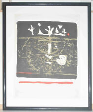 Listed Spanish Artist ANTONI CLAVE, Original Signed Numbered Lithograph, 1960