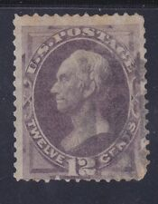 US 151 Used 1870 12¢ Dull Violet Henry Clay No Grill Scv $220.00