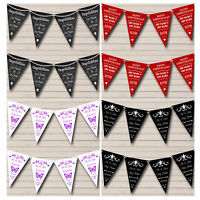 Personalised Wedding Anniversary Bunting Party Flag Banner Decoration Garland
