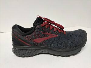 Brooks Ghost 11 Running Shoes, Black/Red, Mens 8 M