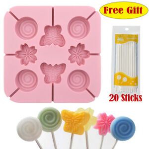Butterfly Silicone Fondant Cake Topper Mold Chocolate Lollipop Baking Mould 3D