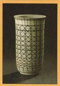 Kunstpostkarte mit Abbildungen von Keramik Hedwig Bollhagen - Bechervase