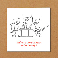 LEAVING JOB WORK card retirement boss employee work colleague manager funny fun