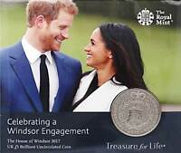 2017 Royal Mint Prince Harry Meghan Windsor Engagement £5 Five Pound Coin Pack