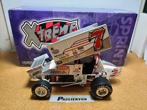 1998 Kevin Huntley #7 Peterbilt 1:18 World Of Outlaws Sprint Car Action MIB
