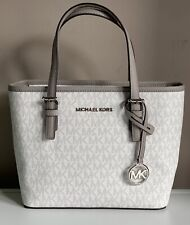 Michael Kors Jet Set Travel Xtra Small Carryall Tote Bag Bright White BNWT