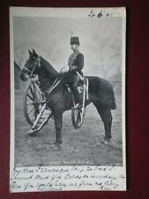 POSTCARD SERGEANT MAJOR R.H.A  1900'S