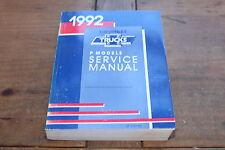 P Model Truck Motor Home & Medium Duty ST33092 1992 GM Shop Service Manual