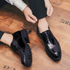 Men Round Toe Shoes Faux Leather Business Casual Work Lace up Shoes #721