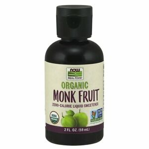 NOW Foods Monk Fruit Liquid, Organic 2 oz , Clearance for dented bottle