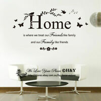 Home Wall Quotes Stickers Vinyl Wall Decal Removable Art Mural Home Decor Deco