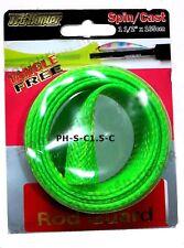 "Spin/Cast Fishing Rod Guard / Protector Cover, Sleeve, 1.5"" x 165cm, fluroGreen"