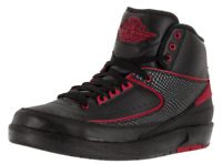 JORDAN 2 RETRO MEN´S BASKETBALL RUNNING SHOES ALTERNATE BLACK/RED  834274 001