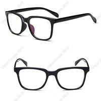 Designer Full Rim Plastic Glasses Frames Clear Lens Eyewear Spectacles Black