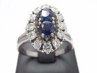 Goldring Ring bague 750 GOLD Brillanten Diamanten Weißgold 18 Karat 18kt Saphir