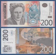 La Serbia/Serbia 200 Dinara 2013 UNC P. 58 B