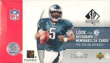 2005 UD UPPER DECK SP AUTHENTIC NFL FOOTBALL HOBBY BOX NEW SEALED