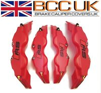 Red Brake Caliper Covers DIY Kit RS Logo Front Rear 4x S+M fits AUDI