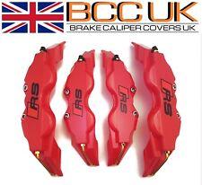Red Brake Caliper Covers DIY Kit RS Logo Front Rear 4x S+M fits AUDI