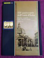 FOLDER 2011 150° ANNIVERSARIO UNITA D'ITALIA EM . CONGIUNTA CON VATICANO  RARO